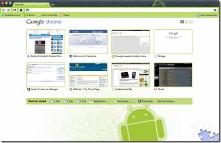 Chrome テーマ Android